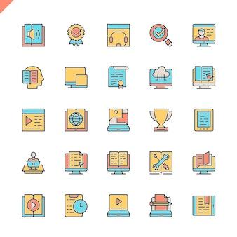 E-learning sur ligne plate