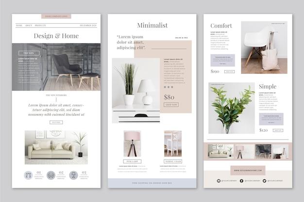 E-mail de commerce électronique créatif avec photos