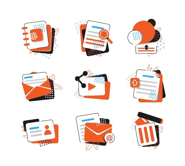 E-mail et messageriecampagne de marketing par e-mail icône du design plat illustration vectorielle