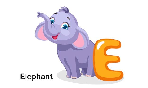 E pour éléphant