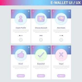 E-wallet ui page statique