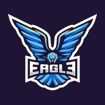 Eagle esport logo illustration design impressionnant