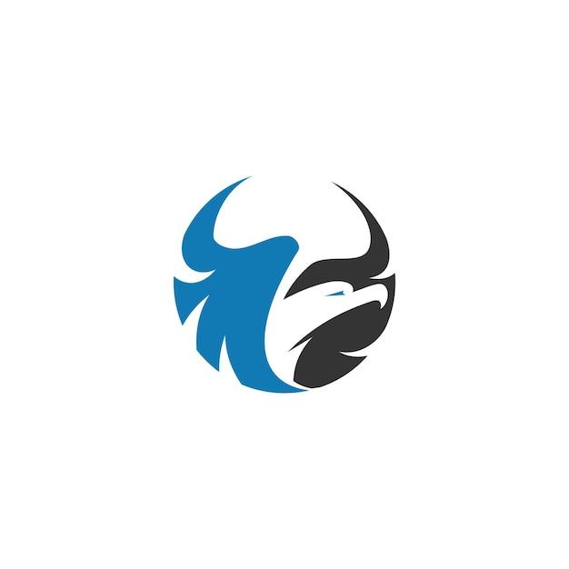 Eagle flying template illustration emblème mascotte isolé