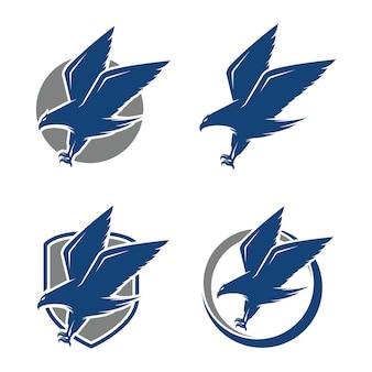 Eagle logo design inspiration vecteur