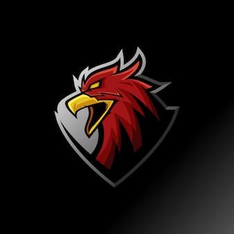 Eagle mascot esporrt logo illustration