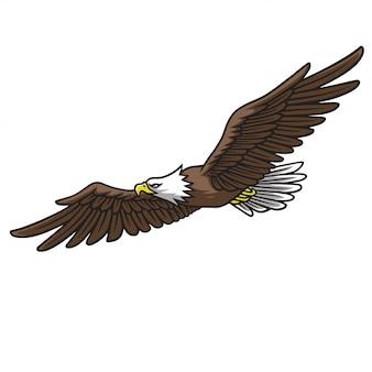 Eagle mascot logo springs wings vector illustration