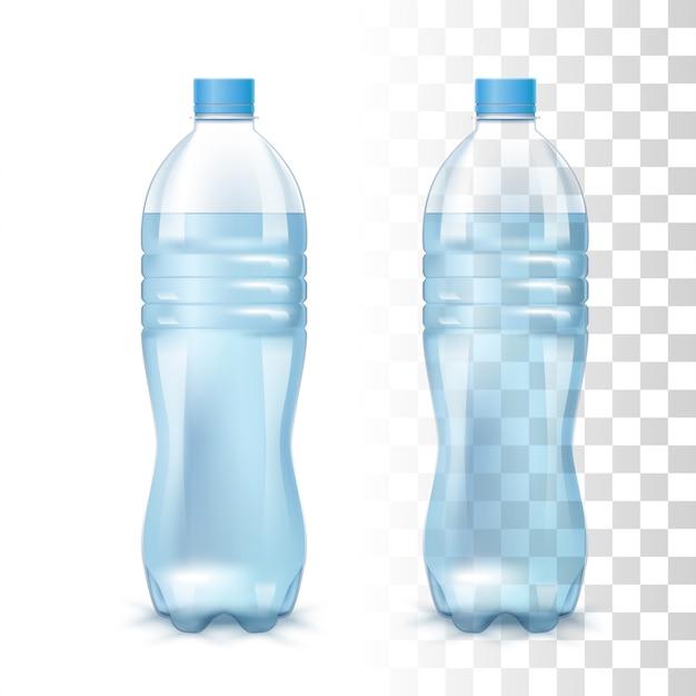 L'eau dans la bouteille en plastique