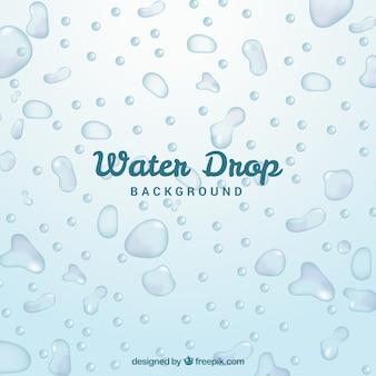 L'eau descend fond dans un style réaliste