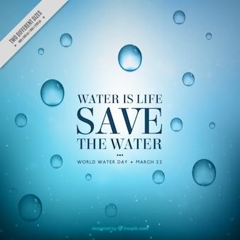 L'eau est la vie de fond