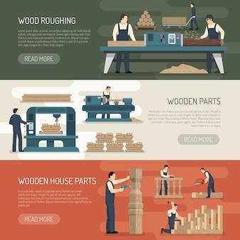 Ebauche de bois bannières horizontales