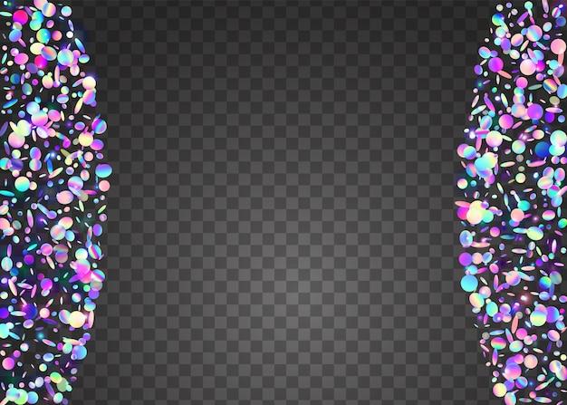 Éblouissement transparent. texture irisée. papier peint coloré au laser. feuille numérique. confettis de carnaval. cristal art. paillettes brillantes violettes. dépliant disco. éblouissement transparent bleu
