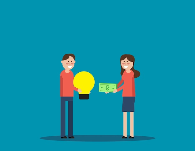 Échange et achat d'idées