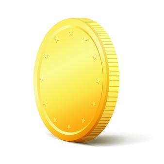 Échange d'argent concept pièce d'or des deux côtés