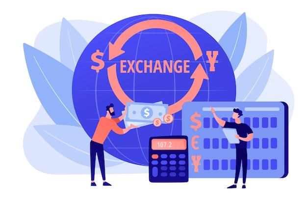 Échange de l'argent. opération bancaire. services financiers. marché financier