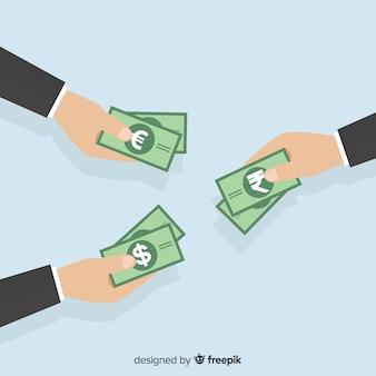 Échange de billets de roupies indiennes