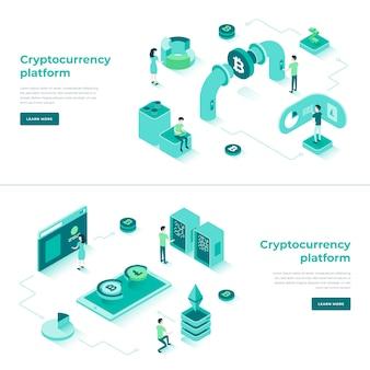 Échange de cryptomonnaie et composition isométrique de blockchain