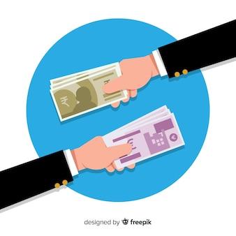Échange de monnaie roupie indienne