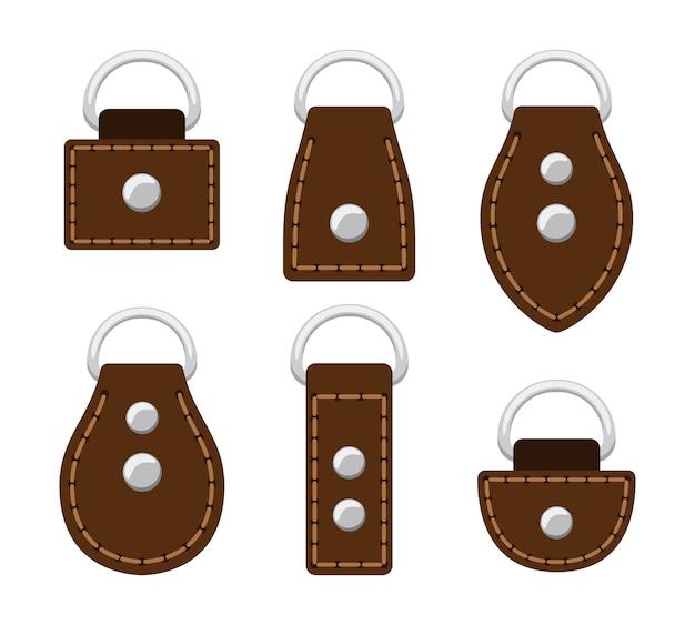 Échantillon de ceinture et boucle en cuir de dessin animé
