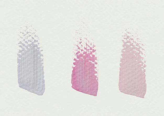 Échantillons de coups de pinceau