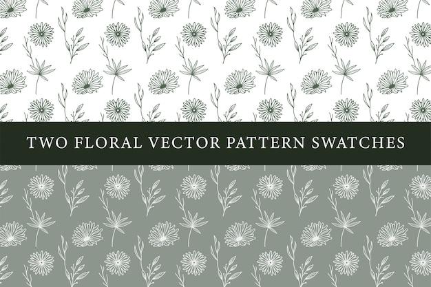 Échantillons de motifs floraux vintage