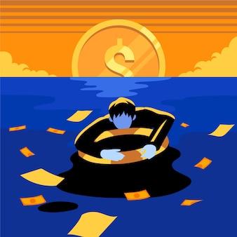 Échec commercial de concept de faillite