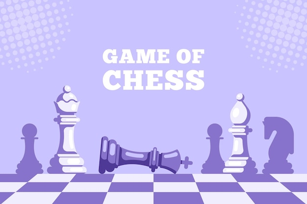Échec et mat. jeu d'échecs. chess king allongé sur l'échiquier et la reine figure au-dessus. chiffres d'échecs sur l'échiquier