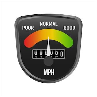 Échelle de compteur de vitesse isolée.
