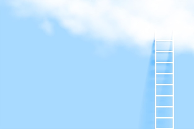 Échelle minimale et fond de nuage réaliste