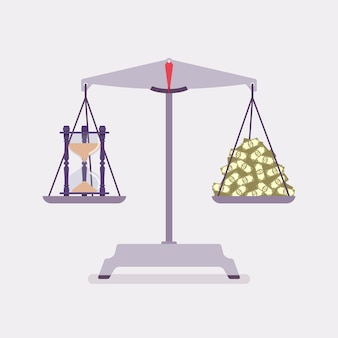 Échelles de temps et d'argent pour un bon équilibre