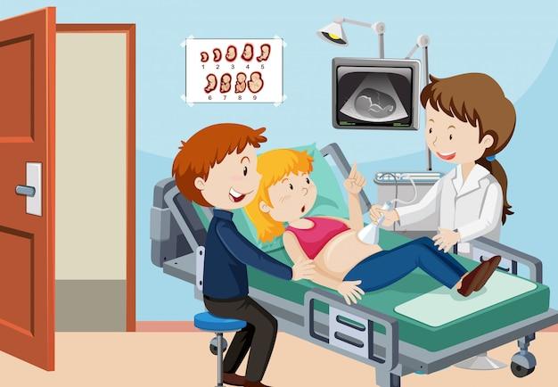 Une échographie de couple à l'hôpital
