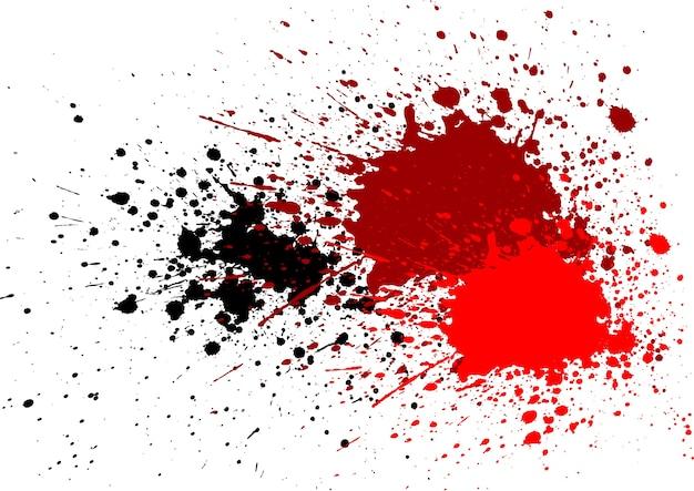 Éclaboussure abstraite sang rouge couleur noire