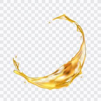 Éclaboussure d'eau jaune réaliste