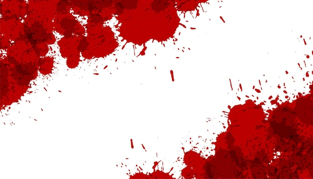 Éclaboussure d'encre abstraite ou fond de texture de tache de sang
