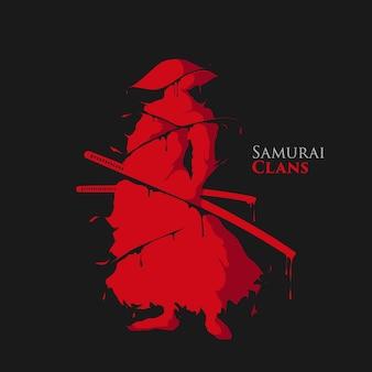 Éclaboussure de guerrier samouraï