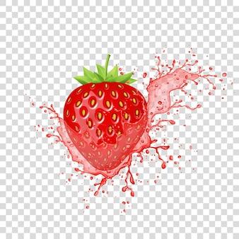 Éclaboussure de jus de fraise.