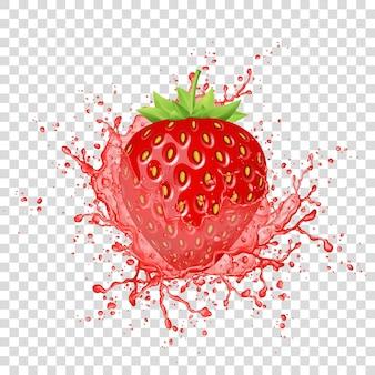 Éclaboussure de jus de fraise