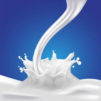 Éclaboussure de lait