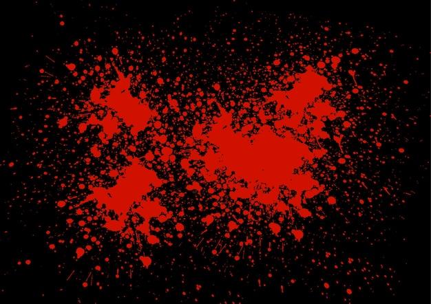 Éclaboussure de sang abstraite sur la couleur noire