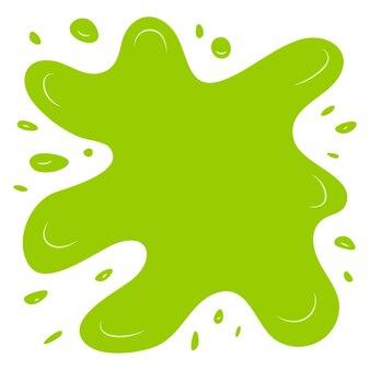 Éclaboussure verte sur fond blanc. illustration vectorielle