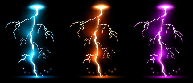 Eclair, coup de tonnerre, tempête, magie scintillante.