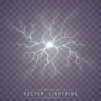 Éclair éclair. foudre magie et effets de lumière.