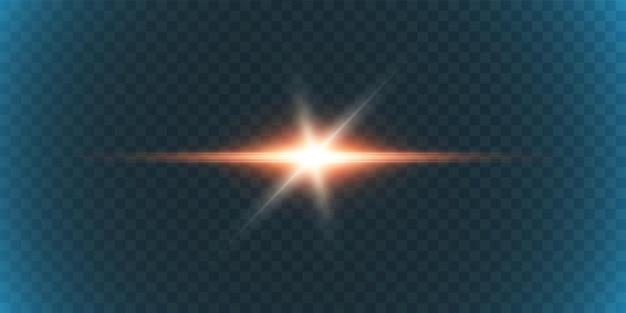 Un éclair lumineux scintillant sur un fond transparent, pour les illustrations et les arrière-plans.