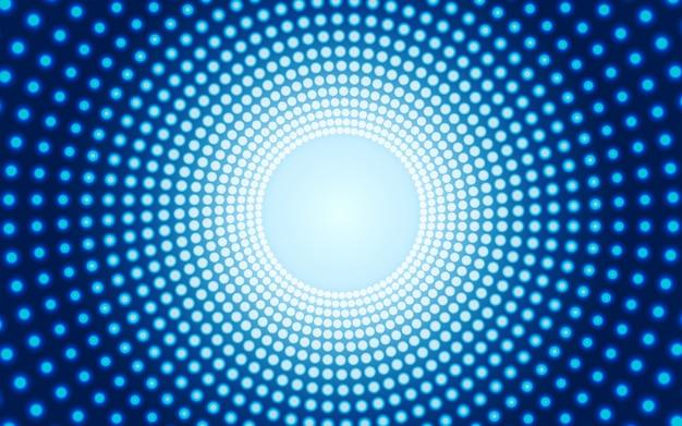 Éclairage central avec fond bleu