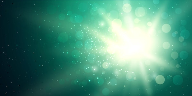 Éclairage flare sun burst fond