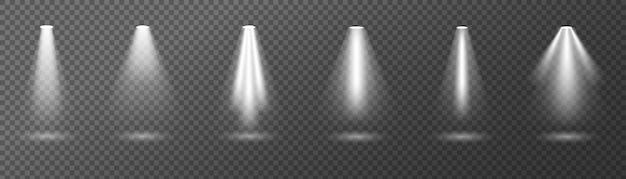 Éclairage lumineux spots, lumière, éclairage