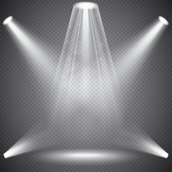 Éclairage de scène avec effets de lumière, effets transparents