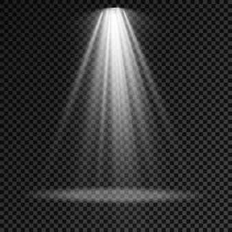 L'éclairage de scène met en lumière des effets de lumière de projecteur de scène un éclairage blanc brillant avec un projecteur