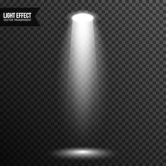 Éclairage de scène spot vectoriel transparent