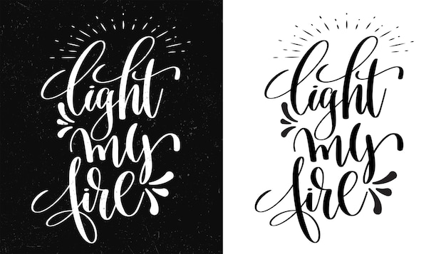 Éclaire ma vie. citation inspirante. illustration dessinée à la main