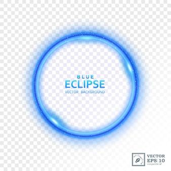 Éclipse de lumière bleue abstraite